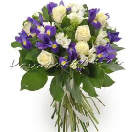 доставка цветов Москва, цветы Москва, купить цветы в Москве, цветы недорого Москва, заказать цветы Москва, цветы, Москва, доставка, ирисы, роза, белая роза
