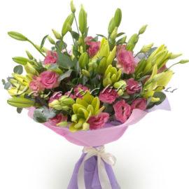 доставка цветов Москва, цветы Москва, купить цветы в Москве, цветы недорого Москва, заказать цветы Москва, цветы, Москва, доставка, букет, лилия, эустома, букет лилий, букет эустома
