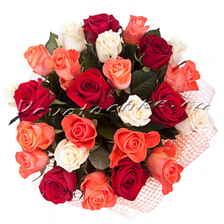 доставка цветов Москва, цветы Москва, купить цветы в Москве, цветы недорого Москва, заказать цветы Москва, цветы, Москва, доставка, роза, букет роз, роза белая, роза красная, 25 роз