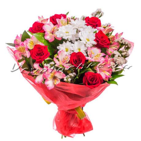 доставка цветов Москва, цветы Москва, купить цветы в Москве, цветы недорого Москва, заказать цветы Москва, цветы, Москва, доставка, роза, хризантема, альстромерия, букет