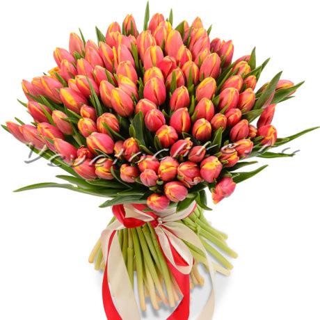 доставка цветов Москва, цветы Москва, купить цветы в Москве, цветы недорого Москва, заказать цветы Москва, цветы, Москва, доставка, букет Москва, тюльпаны Москва, тюльпаны, 51 красных тюльпанов