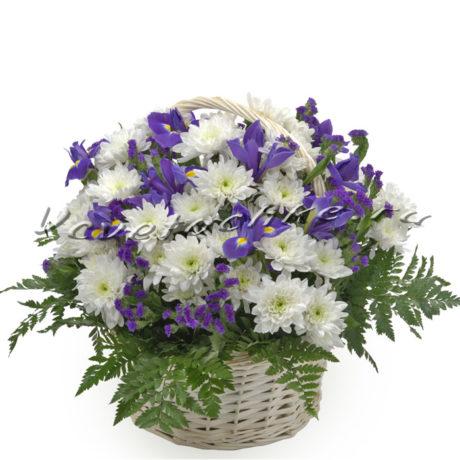 доставка цветов Москва, цветы Москва, купить цветы в Москве, цветы недорого Москва, заказать цветы Москва, цветы, Москва, доставка, композиция, хризантема, корзина