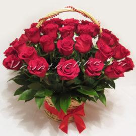доставка цветов Москва, цветы Москва, купить цветы в Москве, цветы недорого Москва, заказать цветы Москва, цветы, Москва, доставка, роза, красная роза, корзина, корзина роз, корзина красных роз