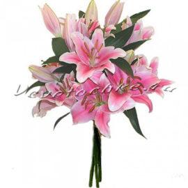 доставка цветов Москва, цветы Москва, купить цветы в Москве, цветы недорого Москва, заказать цветы Москва, цветы, Москва, доставка, лилия, букет, букет лилий, три лилии