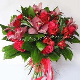 доставка цветов Москва, цветы Москва, купить цветы в Москве, цветы недорого Москва, заказать цветы Москва, цветы, Москва, доставка, роза, красная роза, альстромерия, орхидея