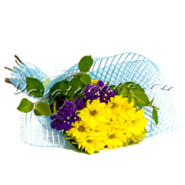 доставка цветов Москва, цветы Москва, купить цветы в Москве, цветы недорого Москва, заказать цветы Москва, цветы, Москва, доставка, хризантема, хризантема кустовая, желтая хризантема, статица, букет
