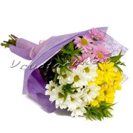 доставка цветов Москва, цветы Москва, купить цветы в Москве, цветы недорого Москва, заказать цветы Москва, цветы, Москва, доставка, хризантема, хризантема белая, хризантема желтая, хризантема кустовая, букет
