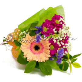 доставка цветов Москва, цветы Москва, купить цветы в Москве, цветы недорого Москва, заказать цветы Москва, цветы, Москва, доставка, гербера, хризантема, хризантема кустовая, статица, букет