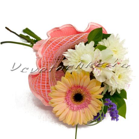 доставка цветов Москва, цветы Москва, купить цветы в Москве, цветы недорого Москва, заказать цветы Москва, цветы, Москва, доставка, хризантема, кустовая хризантема, статица, гербера, альстромерия