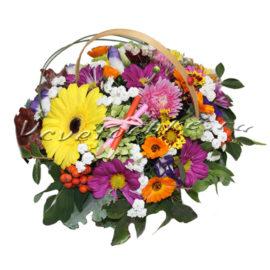 доставка цветов Москва, цветы Москва, купить цветы в Москве, цветы недорого Москва, заказать цветы Москва, цветы, Москва, доставка, корзина, цветочная корзина, гербера, эустома, астра, календула, гипсофила