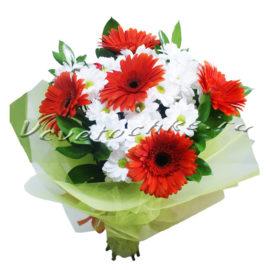 доставка цветов Москва, цветы Москва, купить цветы в Москве, цветы недорого Москва, заказать цветы Москва, цветы, Москва, доставка, гербера, хризантема, кустовая хризантема, букет