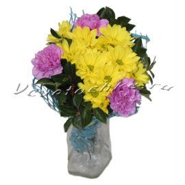 доставка цветов Москва, цветы Москва, купить цветы в Москве, цветы недорого Москва, заказать цветы Москва, цветы, Москва, доставка, хризантема, кустовая хризантема, гвоздика, букет