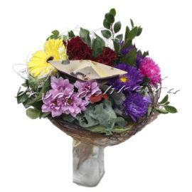 доставка цветов Москва, цветы Москва, купить цветы в Москве, цветы недорого Москва, заказать цветы Москва, цветы, Москва, доставка, гербера, хризантема, кустовая хризантема, астра, букет