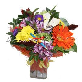 доставка цветов Москва, цветы Москва, купить цветы в Москве, цветы недорого Москва, заказать цветы Москва, цветы, Москва, доставка, гербера, хризантема, астра, брассика, букет