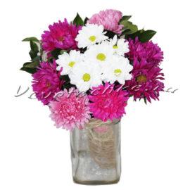 доставка цветов Москва, цветы Москва, купить цветы в Москве, цветы недорого Москва, заказать цветы Москва, цветы, Москва, доставка, хризантема, кустовая хризантема, астра, гипсофила, букет