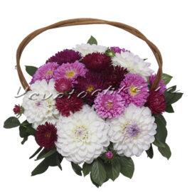 доставка цветов Москва, цветы Москва, купить цветы в Москве, цветы недорого Москва, заказать цветы Москва, цветы, Москва, доставка, композиция, корзина, георгины, астра