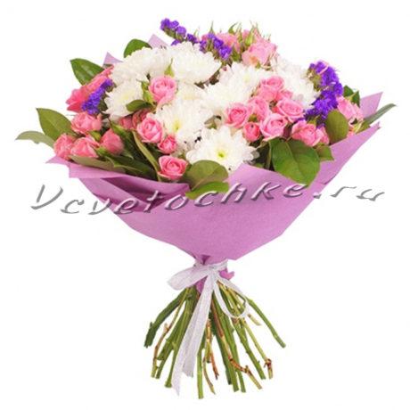 доставка цветов Москва, цветы Москва, купить цветы в Москве, цветы недорого Москва, заказать цветы Москва, цветы, Москва, доставка, букет, хризантема, кустовая хризантема, роза, кустовая роза