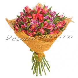 доставка цветов Москва, цветы Москва, купить цветы в Москве, цветы недорого Москва, заказать цветы Москва, цветы, Москва, доставка, букет, хризантема, кустовая хризантема, альстромерия, букет альстромерий