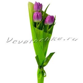 доставка цветов Москва, цветы Москва, купить цветы в Москве, цветы недорого Москва, заказать цветы Москва, цветы, Москва, доставка, букет, тюльпаны, фиолетовые тюльпаны, 3 тюльпана