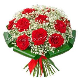 доставка цветов Москва, цветы Москва, купить цветы в Москве, цветы недорого Москва, заказать цветы Москва, цветы, Москва, доставка, букет, роза, красная роза, букет роз, гипсофила, Маркиза анлегов