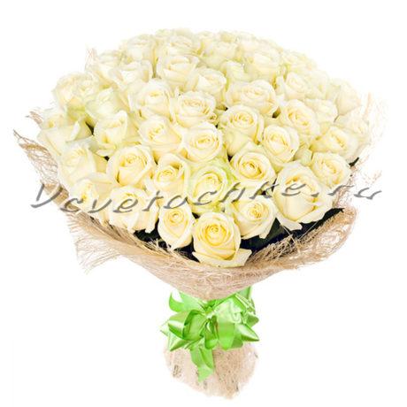 доставка цветов Москва, цветы Москва, купить цветы в Москве, цветы недорого Москва, заказать цветы Москва, цветы, Москва, доставка, букет, белая роза, роза, 51 роза, 51 белая роза