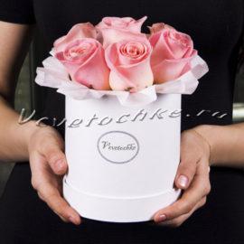 доставка цветов Москва, цветы Москва, купить цветы в Москве, цветы недорого Москва, заказать цветы Москва, цветы, Москва, доставка, букет, шляпная коробка, коробка, шляпная коробка цветов, коробка цветов, роза, роза розовая, коробка роз