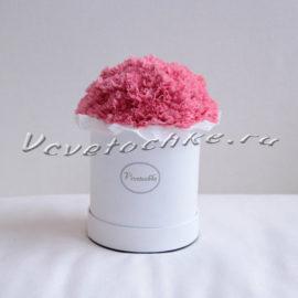 доставка цветов Москва, цветы Москва, купить цветы в Москве, цветы недорого Москва, заказать цветы Москва, цветы, Москва, доставка, букет, шляпная коробка, коробка, шляпная коробка цветов, коробка цветов, гвоздика, гвоздика розовая, коробка гвоздик