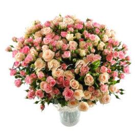 доставка цветов Москва, цветы Москва, купить цветы в Москве, цветы недорого Москва, заказать цветы Москва, цветы, Москва, доставка, букет, роза, роза кустовая, букет роз, букет кустовых роз, кремовая роза