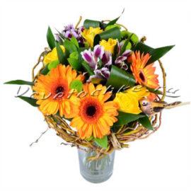 доставка цветов Москва, цветы Москва, купить цветы в Москве, цветы недорого Москва, заказать цветы Москва, цветы, Москва, доставка, букет, альстромерия, гербера, роза, хризантема