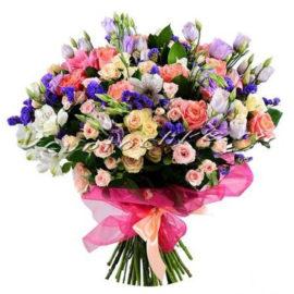 доставка цветов Москва, цветы Москва, купить цветы в Москве, цветы недорого Москва, заказать цветы Москва, цветы, Москва, доставка, букет, альстромерия, роза, роза Москва, эустома, эустома Москва, статица
