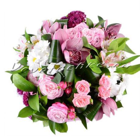 доставка цветов Москва, цветы Москва, купить цветы в Москве, цветы недорого Москва, заказать цветы Москва, цветы, Москва, доставка, букет, орхидея, альстромерия, орхидея розовая, роза, роза кустовая, хризантема, хризантема белая