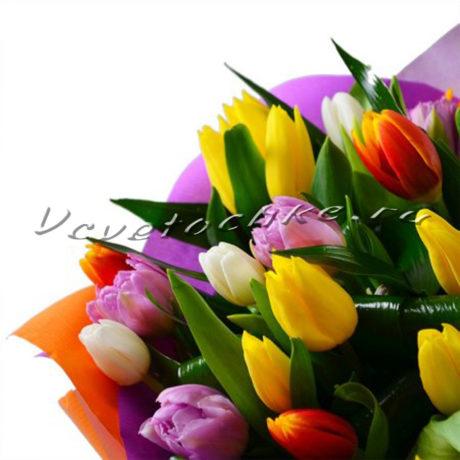 доставка цветов Москва, цветы Москва, купить цветы в Москве, цветы недорого Москва, заказать цветы Москва, цветы, Москва, доставка, букет, тюльпаны, разноцветные тюльпаны, букет тюльпанов
