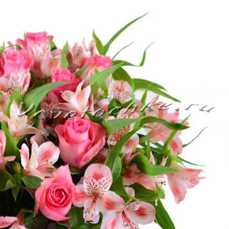 доставка цветов Москва, цветы Москва, купить цветы в Москве, цветы недорого Москва, заказать цветы Москва, цветы, Москва, доставка, букет, альстромерия, роза, роза Москва, розовая роза, доставка