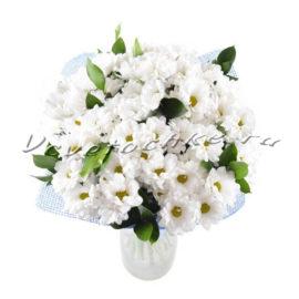 доставка цветов Москва, цветы Москва, купить цветы в Москве, цветы недорого Москва, заказать цветы Москва, цветы, Москва, доставка, букет, хризантема, белая хризантема, букет из хризантем