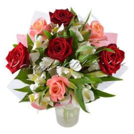 доставка цветов Москва, цветы Москва, купить цветы в Москве, цветы недорого Москва, заказать цветы Москва, цветы, Москва, доставка, букет, роза, альстромерия, роза красная