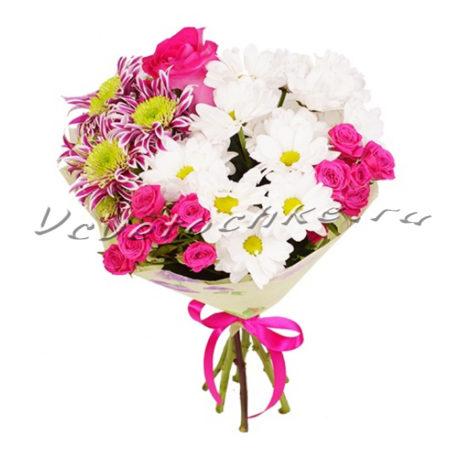 доставка цветов Москва, цветы Москва, купить цветы в Москве, цветы недорого Москва, заказать цветы Москва, цветы, Москва, доставка, букет, хризантема, роза, роза кустовая