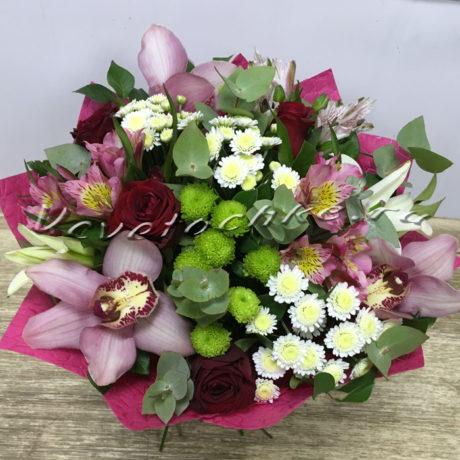 доставка цветов Москва, цветы Москва, купить цветы в Москве, цветы недорого Москва, заказать цветы Москва, цветы, Москва, доставка, букет, орхидея, роза, хризантема, кустовая хризантема, сантини, альстромерия