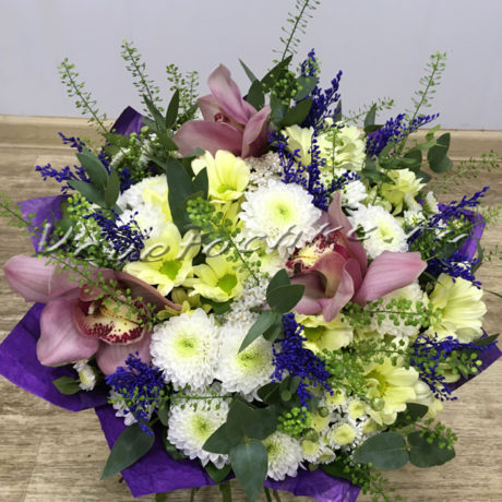 доставка цветов Москва, цветы Москва, купить цветы в Москве, цветы недорого Москва, заказать цветы Москва, цветы, Москва, доставка, букет, орхидея, хризантема, кустовая хризантема, сантини, грин бел