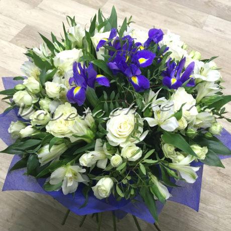 доставка цветов Москва, цветы Москва, купить цветы в Москве, цветы недорого Москва, заказать цветы Москва, цветы, Москва, доставка, букет, ирисы, роза, кустовая роза, альстромерия