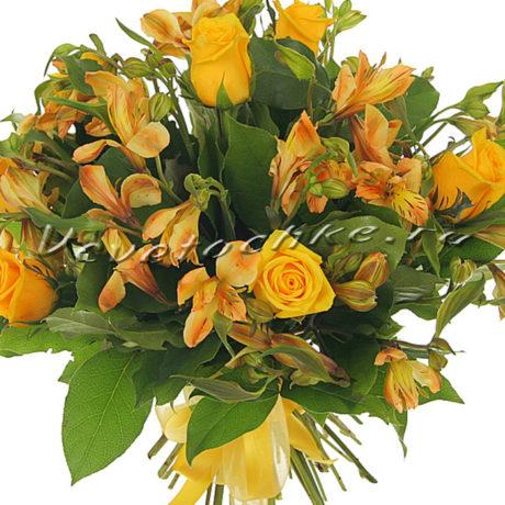 доставка цветов Москва, цветы Москва, купить цветы в Москве, цветы недорого Москва, заказать цветы Москва, цветы, Москва, доставка, букет, альстромерия, роза, желтая роза