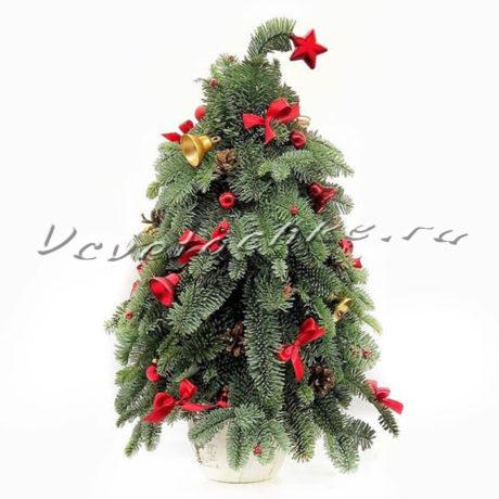 доставка цветов Москва, цветы Москва, купить цветы в Москве, цветы недорого Москва, заказать цветы Москва, цветы, Москва, доставка, новый год, новогодняя композиция, рождество, нобилис, елка, елочка