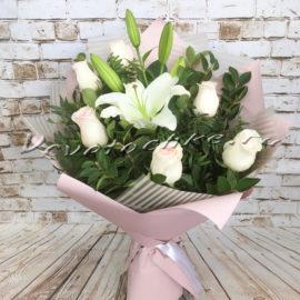 доставка цветов Москва, цветы Москва, купить цветы в Москве, цветы недорого Москва, заказать цветы Москва, цветы, Москва, доставка, букет, лилия, белая лилия, роза, розовая роза, букет лилий