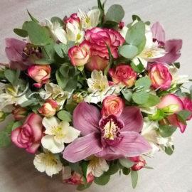 доставка цветов Москва, цветы Москва, купить цветы в Москве, цветы недорого Москва, заказать цветы Москва, цветы, Москва, доставка, букет, композиция, альстромерия, орхидея, роза, кустовая роза, эвкалипт