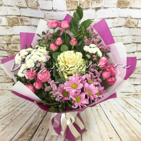 доставка цветов Москва, цветы Москва, купить цветы в Москве, цветы недорого Москва, заказать цветы Москва, цветы, Москва, доставка, букет, роза, кустовая роза, хризантема, кустовая хризантема, брассика
