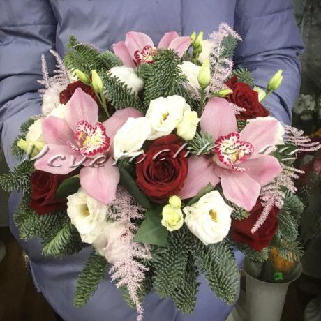 доставка цветов Москва, цветы Москва, купить цветы в Москве, цветы недорого Москва, заказать цветы Москва, цветы, Москва, доставка, букет, орхидея, аспарагус, роза, эустома