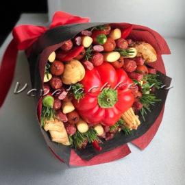 доставка цветов Москва, цветы Москва, купить цветы в Москве, цветы недорого Москва, заказать цветы Москва, цветы, Москва, доставка, букет, мужской букет, съедобный букет, колбаса, колбаска, перец, сыр, чили