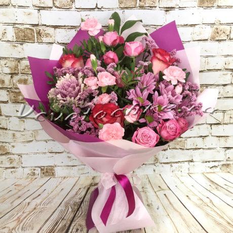 доставка цветов Москва, цветы Москва, купить цветы в Москве, цветы недорого Москва, заказать цветы Москва, цветы, Москва, доставка, букет, роза, кустовая роза, гвоздика, кустовая гвоздика, брассика