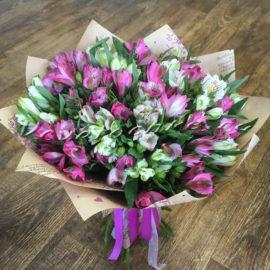 доставка цветов Москва, цветы Москва, купить цветы в Москве, цветы недорого Москва, заказать цветы Москва, цветы, Москва, доставка, букет, альстромерия, букет из альстромерий, разноцветная альстромерия, 25 альстромерий