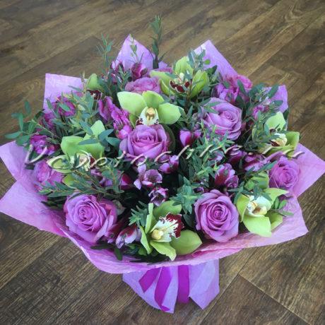 доставка цветов Москва, цветы Москва, купить цветы в Москве, цветы недорого Москва, заказать цветы Москва, цветы, Москва, доставка, букет, альстромерия, орхидея, роза, эвкалипт