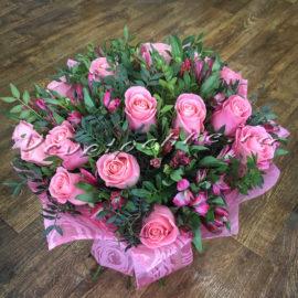 доставка цветов Москва, цветы Москва, купить цветы в Москве, цветы недорого Москва, заказать цветы Москва, цветы, Москва, доставка, букет, роза, розовая роза, букет роз, букет розовых роз, альстромерия